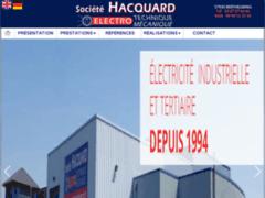 Création du site Internet de Société HACQUARD (Entreprise de Electricien à BERTHELMING )