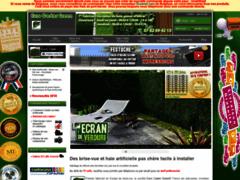 Détails : Décoration de jardin avec des brise vue artificiel