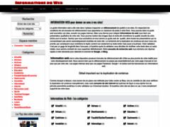 Détails : Informations Web