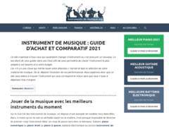 Détails : Choisir votre instrument de musique.