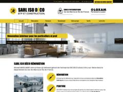Création du site Internet de SARL ISO DECO (Entreprise de Peintre à VITRY-SUR-SEINE )
