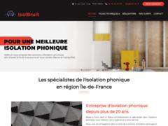Création du site Internet de Isolbruit Habitat Systèmes (Entreprise de Isolation à PARIS )