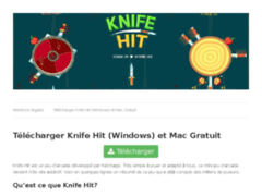 Détails : Téléchargement gratuit du jeu Knife Hit