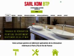 Création du site Internet de KOM BTP (Entreprise de Entreprise générale à PARIS )