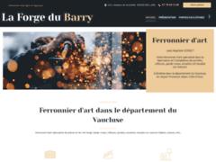 Création du site Internet de La Forge du Barry (Entreprise de Entreprise de clôture à BOLLENE )