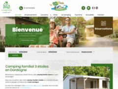 Camping La riviere Fleurie SAINT ANTOINE DE BREUILH en dordogne périgord poupre
