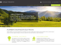 Création du site Internet de Labayle Sébastien (Entreprise de Chauffagiste à BAGNERES DE BIGORRE )