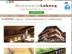 Création du site Internet de Menuiserie Lebecq (Entreprise de Menuisier à FRONTENEX )