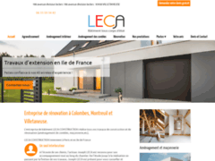 Création du site Internet de LECA-CONSTRUCTION (Entreprise de Entreprise générale à VILLETANEUSE )