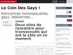 """Détails : Rencontres homosexuelles sur """"Le coin des gays"""""""