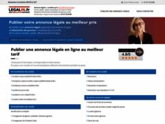 Détails : Publiez votre annonce légale au meilleur coût avec Legalin.fr