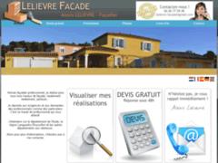 Création du site Internet de LELIEVRE FACADE (Entreprise de Peintre à RIEUX MINERVOIS )