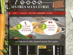 Création du site Internet de Les Pieds sous la table (Entreprise de Restaurant à GAP )