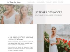 Détails : Le Temps des Noces, boutique dédiée à la vente  de robes de mariée