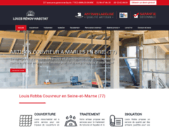Création du site Internet de Louis rénov-habitat  (Entreprise de Entreprise générale à MARLES EN BRIE )