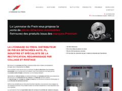 Création du site Internet de Lyonnaise du frein (Entreprise de Distribution de pièces automobile à LYON  )