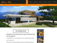 Création du site Internet de DOM Maisons Bois (Entreprise de Constructeur de maison à SAINT ANDRE LE GAZ )