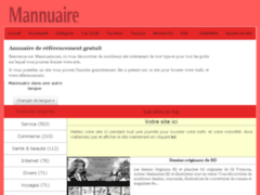 Détails : Mannuaire.net l'annuaire web gratuit sans lien retour