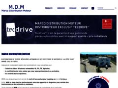 Création du site Internet de MDM (Entreprise de Distribution de pièces automobile à LA COTE SAINT-ANDRE )
