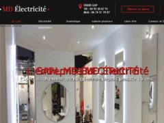 Création du site Internet de MD electricité  (Entreprise de Electricien à GAP )
