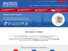 Création du site Internet de Meaux Serrurerie (Entreprise de Serrurier à PARIS )