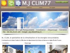 Création du site Internet de MJ.Clim77 (Entreprise de Chauffagiste à COMBS-LA-VILLE )
