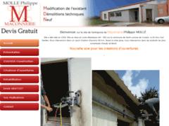 Création du site Internet de Mollé Philippe (Entreprise de Maçon à SAINT LUMINE DE COUTAIS )
