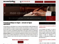 Détails : Conseils juridiques en ligne confidentiels