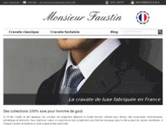 Monsieur Faustin : cravates de fabrication française