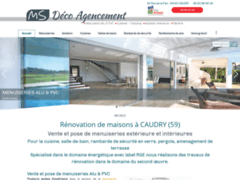 Création du site Internet de MS DECO AGENCEMENT  (Entreprise de Menuisier à CAUDRY )