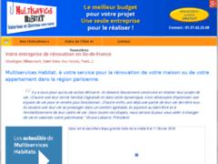 Création du site Internet de MULTISERVICES HABITAT (Entreprise de Entreprise générale à BOBIGNY )