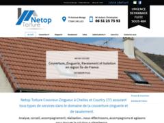 Création du site Internet de Netop Toiture (Entreprise de Couvreur à CHELLES )