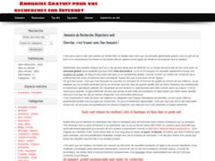 Détails : Annuaire gratuit du web