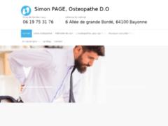 Détails : Simon Page Ostéopathe à Bayonne, au Pays Basque