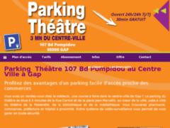 Création du site Internet de Parking Théâtre Gap (Entreprise de Consultant à GAP )