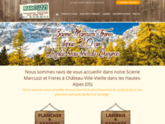 Création du site Internet de Scierie Marcuzzi Frères (Entreprise de Menuisier à CHATEAU VILLE VIEILLE )