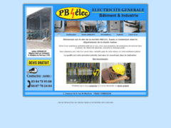 Création du site Internet de PB ELEC (Entreprise de Electricien à COMBERJON )