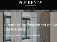 Création du site Internet de PGF Renov (Entreprise de Plombier à BOBIGNY )