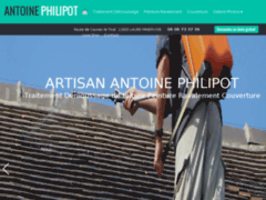 Création du site Internet de Monsieur Philipot (Entreprise de Couvreur à LAURE-MINERVOIS )
