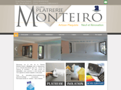 Création du site Internet de Platrerie Monteiro (Entreprise de Platrier à BORDEAUX )