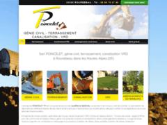 Création du site Internet de Poincelet (Entreprise de Terrassier à ROUREBEAU )