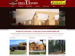 Création du site Internet de PRESTINORD CONSTRUCTION SARL (Entreprise de Constructeur de maison à NEUVILLE ST REMY )