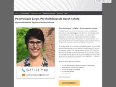 Sarah Schutz, psychologue à Liège