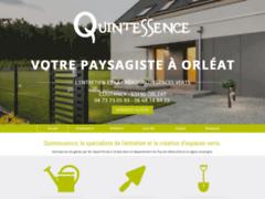 Création du site Internet de Quintessence (Entreprise de Jardinier à ORLEAT )