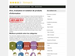 Notation et évaluation de produits pour un avis extérieur