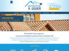 Création du site Internet de Entreprise R.DIDIER (Entreprise de Couvreur à BOIS D'ARCY )