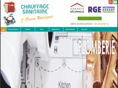 Création du site Internet de EURL Rodrigues Jean-Pierre (Entreprise de Chauffagiste à LES AUXONS )
