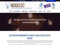 Création du site Internet de ROGELEC (Entreprise de Electricien à PARIS )