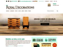 Détails : Mobilier art déco et baroque