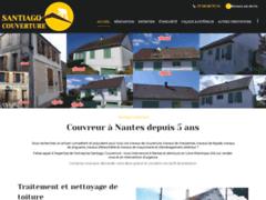 Création du site Internet de Santiago couverture  (Entreprise de Couvreur à NANTES )